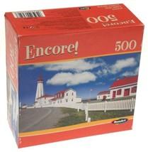RoseArt Encore Lighthouse Jigsaw Puzzle 500 Piece 11x18 Pointe Au Pere Quebec - $12.79
