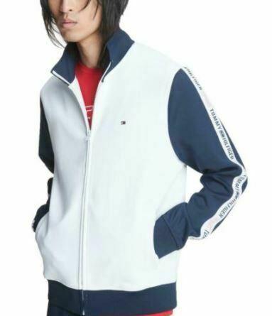 Tommy Hilfiger Men's White Fitness Running Track Jacket Athletic XXL  SEALED!!!