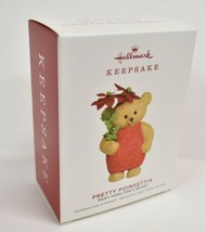 Hallmark Mary Hamilton's Bears Pretty Poinsettia Ornament Dated 2019 - $16.65