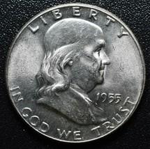 1955 Franklin Silver Half Dollar 50¢ Coin Lot A623