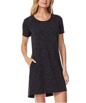 32Degrees Cool Relaxed Fit T-Shirt Dress, Black Spacedye, Medium - $19.79