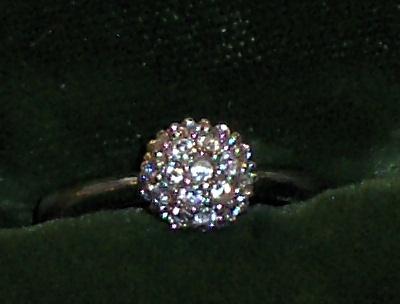 Nadri Crystal Ring QVC Eliot Danori Size 4