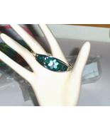 Vintage Inlaid and Enameled Flower Bracelet - $24.97