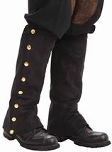 Forum Novelties Men's Adult Steampunk Suede Spats Costume Accessory, Bla... - $19.69