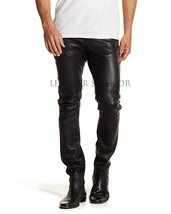 SKINNY FIT MEN LEATHER PANTS