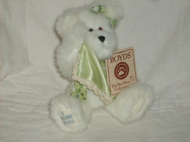 "BOYDS BEARS 8"" BEAR #903037 STELLA MINT RET NWT $11"