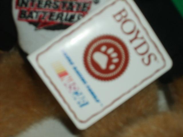 BOYDS Brown Bear Nascar  #18 Bobby Labonte MINT NWT RET