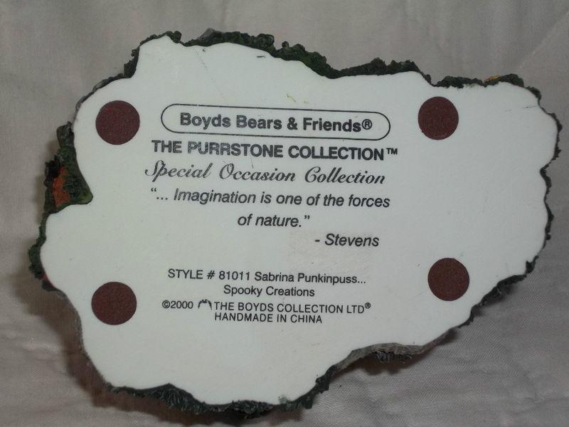 BOYDS PURRSTONE #81011 SABRINA PUNKINPUSS HALLOWEEN VOTIVE HOLDER RET NIB MINT