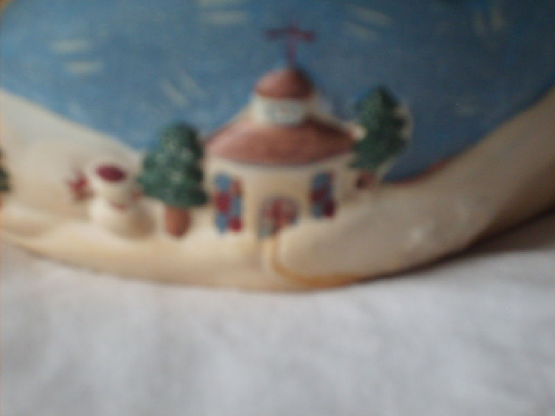 DEBBIE MUMM FLYING SNOWMAN POTTERY JAR CANDLE HOLDER NWT MINT