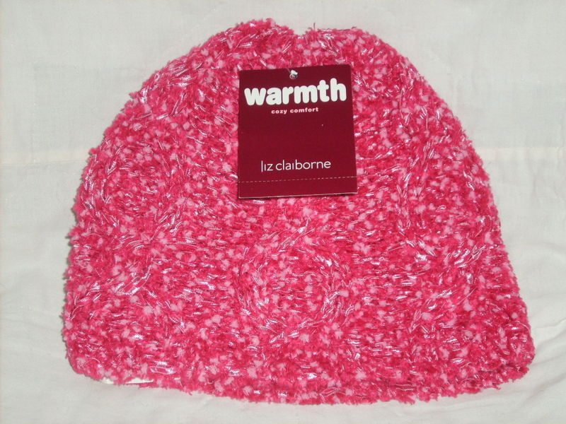 Primary image for LADIES KNITTED TWO-TONED PINK HAT LIZ CLAIBORNE NWT