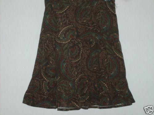 MISSES SZ 4 CORDUROY TIERED SKIRT by ANN TAYLOR NWT $44