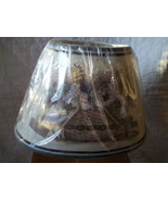 PAT RITCHER TABLE LAMP CRACKLE GLAZE GATHERING BASKET SHADE NWT MINT MSR... - $68.97