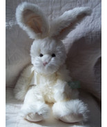"RUSS BERRIE 11"" OFF-WHITE PLUSH BUNNY RABBIT ROAKER NWT - $16.27"