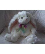 "RUSS BERRIE 14"" WHITE BUNNY RABBIT BOPSIE LONG LOP EAR - $22.97"