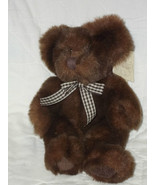 "RUSS BERRIE BEARS FROM THE PAST 9"" SEATED DARK BROWN BEAR NWT MINT MSRP ... - $12.46"