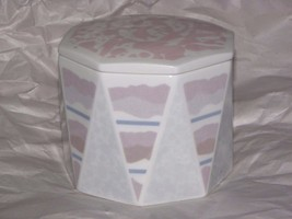 Wedgwood Trinket Jewelry Box Bone China Pastel Strata - $10.40
