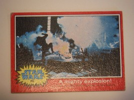 Star Wars Series 2 (Red) Topps 1977 Trading Card # 86 A Mighty Explosion - $1.49