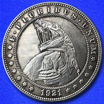 "Rex Attack ""Hobo Nickel"" on Morgan Dollar Coin ** - $4.79"