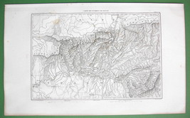 1859 ANTIQUE MAP - Spain Beilen & Environs - $20.24