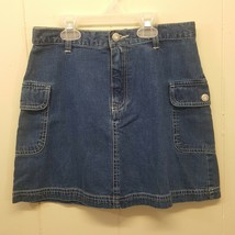 GAP 10 Girls Skirt Blue Jean Denim No Slits Pockets Cotton - $12.84