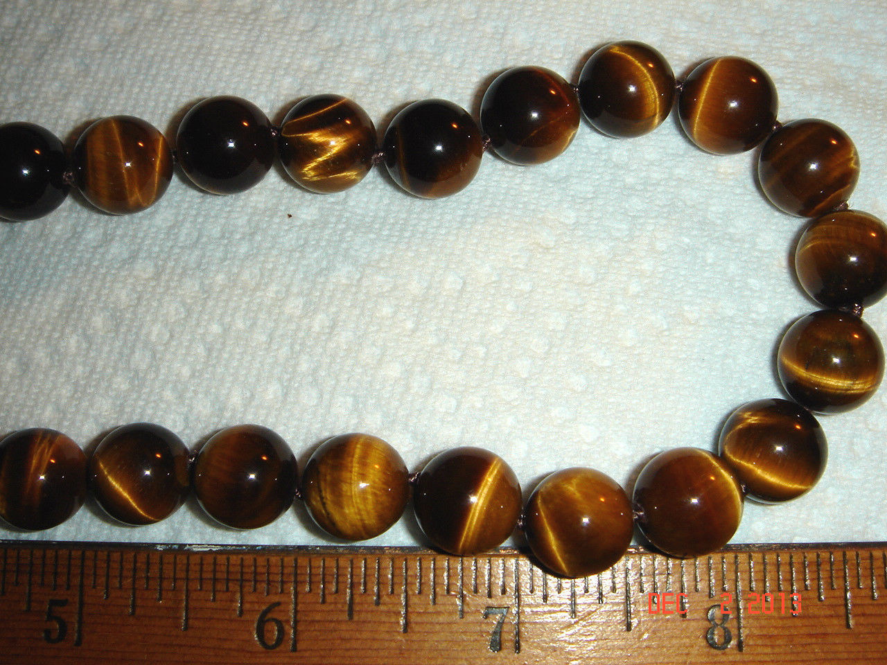 VTG 925 STERLING SILVER TIGERS EYE CLIP EARRINGS ADJUSTABLE KNOTTED NECKLACE SET