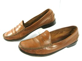 Cole Haan Resort Leather Penny Loafers Shoes Men's Size 10 D Brown 03447 - $41.99