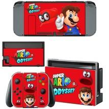 Nintendo Switch Console Dock Vinyl Skin Stickers Super Mario Odyssey Cute Red - $9.70