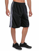 Men's Athletic Mesh Workout Fitness Training Basketball Sports Gym Shorts image 4