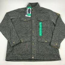 NWT EDDIE BAUER Radiator 4 Pocket SWEATER Fleece Jacket XL Full Zip w sn... - $29.65