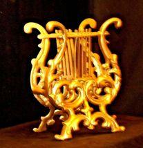 Musical Harp Magazine Holder or for Music AA19-1590 Vintage Metal image 9