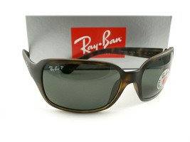 Ray-Ban Sunglasses RB4068 Tortoise Green Polarized 894/58 Authentic New - $129.00