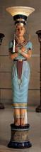 Egyptian Queen Nefertiti Sculptural Floor Lamp Illuminating Glass Shade ... - $639.99