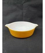 Pyrex By Corning Gold w/White Butterfly Gold Bowl Replacement 471 1 pt  - $11.99