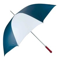 """All-Weather™ 60"""" Two Tone Golf Umbrella With Wood Handle & Metal Shaft - $13.99"""
