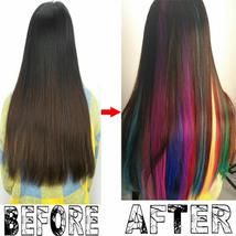 Long Natural Hair Clip In Rainbow Hair Extensions image 8