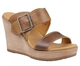Women Timberland Brenton Buckle Slide Wedge Sandal Tan Brown A1GQB SIZE ... - $60.00