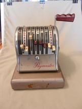 Vintage Paymaster Check Imprinting Machine #3826527 8 Column, #S-600 Sti... - $128.69