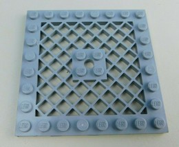 LEGO Parts Plate, Modified 8x8 w Grille (with hole) 4151 LT BLUISH Gray - $2.96