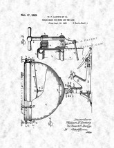 Tuning Means For Drums Patent Print - Gunmetal - $7.95+
