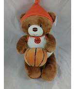 Baby Gund Little Hoopster Basketball Bear Rattle Plush 4050504 Stuffed A... - $8.95