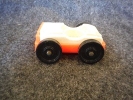 Vintage Fisher Price Little People Garage Style Car Red and White - $2.70