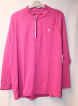 NEW OLD NAVY WOMENS PLUS SIZE 3X PINK SEMIFITTED HILO GO DRY 1/4 ZIP TOP  - $23.21