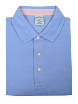Brooks Brothers Mens Light Blue Slim Fit Three Button Polo Shirt  Large L 3194-7 - $50.48