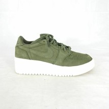 9.5 - Nike Womens Jordan 1 Retro Low Lifted Olive Green Sneakers Shoes 0... - $75.00