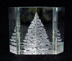 Steuben Glass Paperweight Christmas Tree Bernard X Wolff - $760.00