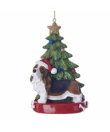 Basset Hound w/Tree Ornament - $14.95