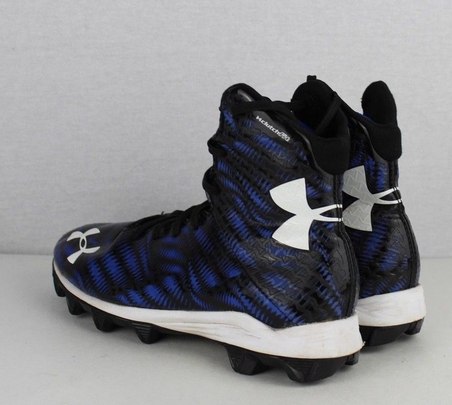 ec81f2d61f9 Under Armour youth boys football cleats highlight clutch fit blue size 5Y