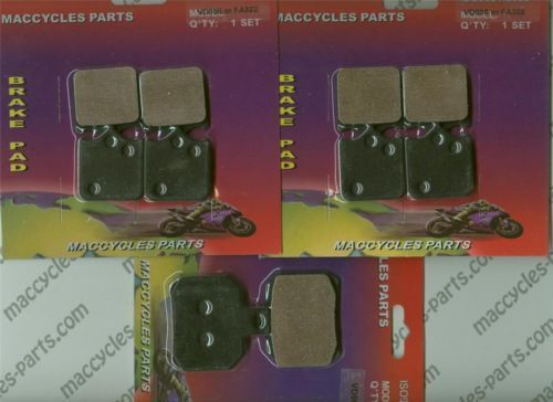 Moto-Guzzi Disc Brake Pads 1100 Fiona 2005 Front & Rear (3 sets)