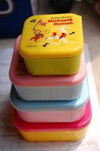 Japanese Square Bento Lunch Box (Set of 4) ~ Circus - $17.98