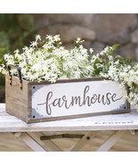 "FARMHOUSE STORAGE BOX   ~  Measures 20¼""W  ~ LARGE WOOD / METAL BOX - $56.95"